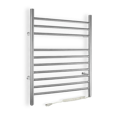 Warmly Yours - WarmlyYours Towel Warmer, Infinity Plug-in - The WarmlyYours Infinity electric towel warmer is manufactured from stainless steel with a beautifully brushed finish and has 10 sleek bars to hang towels or a bathrobe. The plug-in model comes with a 6' long cord and plugs into a standard 120V outlet. of your home  bathroom, laundry room, or even in a dorm room.