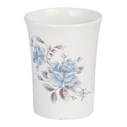 """Renovators Supply - Cup Holders Blue Porcelain Tumbler/Cup Holder - This is 4"""" high, 2 1/4"""" diameter. This is ideal for the bath."""