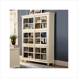Homelegance Hanna 4 Piece Wood Barrister Bookcase Set in White - Features: