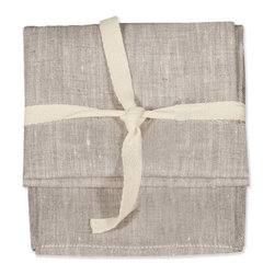 Birdkage - Saline Tea Towels - Handmade from natural linen and sold in sets of two, these tea towels are both rustic and refined. They are hard-working and absorbent enough for kitchen use and beautiful and stylish enough to serve tea, cocktails or dinner. Generously sized, they also make fabulous napkins, looking great on your rustic farm table, your sleek white Saarinen or any table in between.