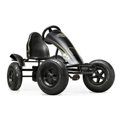 BERG - BERG Black Edition Pedal Kart - Don't you want to ride around making everyone jealous.  This kids pedal kart is so cool that everyone will stop and take a look.  It's sleek black aerodynamic spoiler and the big black tires are two very nice features.  The adjustable seat makes it perfect for ages 5 and up.