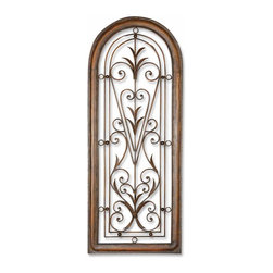 Uttermost - Cristy Petite Metal Wall Art - If your heart is filled with wanderlust, chances are your home is too. This decorative artwork is reminiscent of a faraway place, a doorway to an unknown world waiting to be explored. The hand-forged metal frame adds authenticity while the entire design stimulates the imagination.