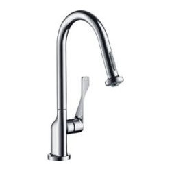 Hansgrohe 39836801 Axor Citterio Prep Kitchen Faucet, Pull-Down In Brushed Nicke -