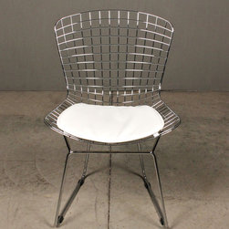 wire dining chair - view this item on our website for more information + purchasing availability:  http://redinfred.com/shop/category/furnish/dining-desk-chairs/wire-dining-chair/