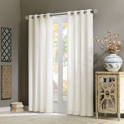 "Madison Park Signature - Madison Park Signature Alexandra Velvet Window Curtain - Add warmth and texture into your room with this 100% cotton velvet window panel. The soft and lush fabric in the deep rich ivory color adds a simple sophisticated touch. The heavy weight fabric combined with microfiber lining creates room darkening features for more privacy and energy saving abilities. Grommet top detail makes it easier to hang, open, and close panels throughout the day. Fits up to 1.25"" diameter rod. 100% cotton velvet wih micro fiber lining, Grommet Top."
