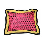 "Sassy Shaylee - Standard Pillow Sham - Standard flanged sham is gorgeous in detail using ""Sassy Hearts"" framed in yellow and black."