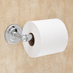 Begonia Toilet Paper Holder - The Begonia Collection Toilet Paper Holder has a beautiful blend of functionality and style. The sleek look will complement any bathroom or powder room decor. Complete the look with other items from the Begonia Collection.