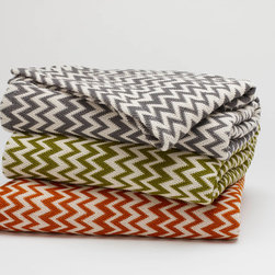 Organic Zigzag Coverlet - Rich color and organic texture give this coverlet irresistible character. Evoking a vintage knit, its matelassé is woven from chunky yarn-dyed organic cotton for a feel that's weighty and comforting, yet open and breathable. Hemmed knife edges. Sourced and woven in India. Global Organic Textile Certified.