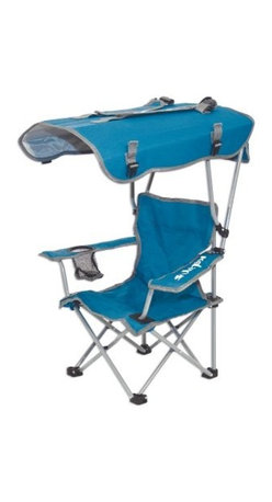 Kelsyus Kids Original Canopy Chair - The Kelsyus Kids Original Canopy Chair isn't your average folding chair. This fine chair has a strong powder-coated steel frame and the fabric is a durable polyester in a rich blue. Setting it apart from the rest, this chair has a large canopy to ward off the sun. The convenience doesn't end there with this chair's handy cup holder and shoulder straps for easy transport.About Swimways Based in Virginia Beach, Virginia, Swimways has one mission: make free time more fun through innovation. They provide your family with pool toys, floats, decorations, games, and even swim training gear to make sure you have no ordinary day at the pool. With over 35,000 storefronts and offices in Hong Kong and the United States, Swimways' diverse staff is dedicated to bringing you the best. Safety is their priority, helping to teach kids to swim for over 40 years with an innovative line of swim-training products. Swimways is here to help and stands by their products every step of the way.