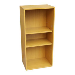 ORE International - 16.5 in. Adjustable Book Shelf - Three shelves. Uniquely designed scratch-resistant surface. Easy to clean. Warranty: 30 days. Made from wood. Beige finish. Assembly required. 16.5 in. W x 12 in. D x 35.5 in. H (25 lbs.)This book case will not only help you organize your books and magazine but will also increase storage space for you.