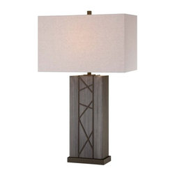 Ambience - Ambience 12419-0 1 Light Table Lamp - Single Light Table Lamp with Oatmeal Linen Fabric ShadeFeatures: