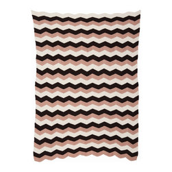 Ferm Living - Zig Blanket Red - Ferm Living - Ferm Living's retro knitted blanket is made of 100% cotton.