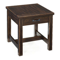 Magnussen - Magnussen Kinderton Wood Rectangular End Table - Magnussen - End Tables - T239803 - About This Product: