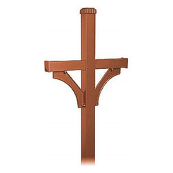Salsbury Industries - Deluxe Mailbox Post - 2 Sided for (2) Mailboxes - In-Ground Mounted - Copper - Deluxe Mailbox Post - 2 Sided for (2) Mailboxes - In-Ground Mounted - Copper
