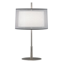 Robert Abbey - Saturnia Accent Lamp, Stainless Steel - -1 - 60W Max.