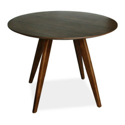 #N/A - Dover Dining Table Small Walnut - Dover Dining Table Small Walnut. Style: Modern, Width: 15, Depth: 11, Height: 25