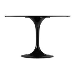 Zuo Modern - Zuo Modern Wilco Modern Dining Table X-271201 - The Wilco table echoes some of the great Mid-century design with its tulip base and bevel edge round top. Its top is glossy painted MDF and its base is glossy coated fiberglass.
