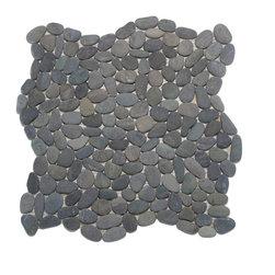 Mini Pebble Tile Mosaic - Ocean Blue Mini Pebble Tile made by Zen Paradise, Inc., interlocking pattern to create a seamless natural environment.