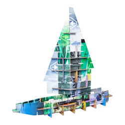 OOTS! - Totem: City Cardboard Toy - Your kids will have so much fun, they won't want to stop at just one. With Totem City, they can make four different sturdy cardboard models from one kit, including a ship, a church and two types of aircraft.