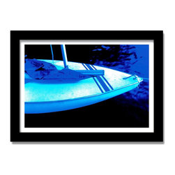 Lake Slip sailboat print blue artwork for home, office, beach restaurant decor - Lake Slip sailboat print blue artwork for home, office, beach restaurant decor