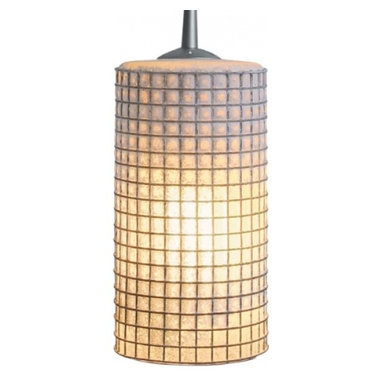 "Bruck Lighting - Zonyx Sierra w Amber Glass Wire Mesh (E26 Medium Base) - Choose Bulb Base Type: E26 Medium Base. Pictured in Matte Chrome. Glass Color: Amber Glass Wire Mesh. 120v Input. Bulb not included. Suitable for dry location only. Non Dimmable. Overall Dimensions: 9.5"" H x 5"" DiameterThe Zonyx Sierra II line voltage pendant includes an integrated Zonyx adaptor for Zonyx track. Standard cable length of 59 inches can be easily adjusted in field."