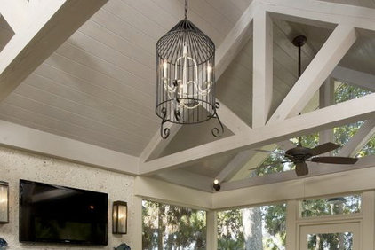 Traditional  Salvage Project: Birdcage Chandelier