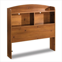 South Shore - South Shore Logik Sunny Pine Twin Size Bookcase Headboard - South Shore - Headboards - 3342098
