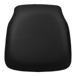 Flash Furniture - Hard Black Vinyl Chiavari Chair Cushion for Wood Chiavari Chairs - Hard cushions are the most popular choice in the Rental and Event industry offering firm support. Velcro strips underneath cushion secures cushion to the seat.