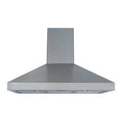 Windster - Windster 48W in. RA-77 Series Wall Mounted Range Hood - RA-7748 - Shop for Hoods and Accessories from Hayneedle.com! Give yourself a much-deserved break with the Windster 48W in. RA-77 Series Wall Mounted Range Hood letting you keep the air clean and breathable with only the touch of a button. This set includes both a range hood and a duct cover both of which are constructed using the same sturdy stainless steel boasting a seamless design and smooth edges thanks to Windster's superior-quality welding. A 620CFM blower is built into the frame siphoning away excess heat smoke steam and grease vapors in an instant. Two aluminum mesh filters are included to help purify the air and featuring a dishwasher-safe design. The blower is outfitted with three speed-control setting and has a maximum operational volume of 5.4 sones. All necessary switches are included. Two 1.5W LCD lights are provided with this set.About Windster Hoods For over a decade Windster Hoods has provided North American consumers with superior-quality range hoods filters and other ventilation and kitchen equipment. Each unit produced by Windster Hood is designed to meet or exceed the standards defined by the CSA conforming to governmental and regulatory codes. Windster products are constructed with a focus on safety and functionality featuring smooth edges single-piece designs and precise welding. Since 2003 Windster has risen to become a trusted name and industry leader. Under-cabinet wall-mounted island units and more are all produced on-site and delivered directly to business owners from the Windster warehouses.