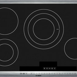 "Bosch - 800 Series NET8054UC 30"" Electric Cooktop with 4 Cooking Zones  AutoChef Sensor - From the simple elegance of the ceramic-glass cooking surface to the exciting performance features Bosch electric cooktops are the very image of understated sophistication for the kitchen Bosch cooktops offer a range of exclusive performance and conv..."