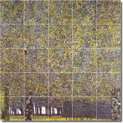 Picture-Tiles, LLC - The Park Tile Mural By Gustave Klimt - * MURAL SIZE: 40x40 inch tile mural using (25) 8x8 ceramic tiles-satin finish.