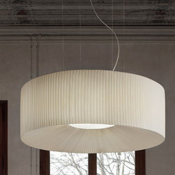 Masiero Lighting - Masiero Lighting | Tessuti Round 6 Light Pendant Light - Design by Studio Stile Masiero.