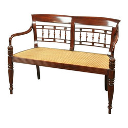 EuroLux Home - New Dutch East Indies Style Entry Bench - Product Details