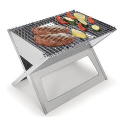 Portable Fold Flat BBQ Grill - This is the grill that folds flat for unmatched portability.