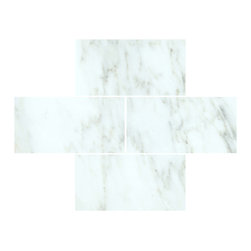 All Marble Tiles - Arabescato Carrara 3x6 Honed Marble Subway Tile - Looking for a great Italian theme in your living room, bathroom or kitchen? Your search ends here with high end Arabescato Marble Collection. This collection has unique looking tiles made of white marble and attractive grey veins running through the white surface. These tiles are highly recommended in a classic or modern styled home because they remain timeless in demand.