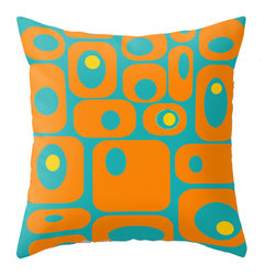 Crash Pad Designs - Crash Pad Designs Mod Throw Pillow - Milo - Give your decor a fresh look with this pleasingly retro-inspired pillow. The playful mod pattern is printed on both sides of this 100 percent spun polyester poplin fabric pillow. This versatile, machine-washable pillow features a hidden zipper closure and a polyester fill insert, for extra cushioning on your sofa or favorite chair.