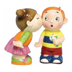 WL - 3.5 Inch Kissing Kids Boy and Girl Kissing Salt and Pepper Shakers - This gorgeous 3.5 Inch Kissing Kids Boy and Girl Kissing Salt and Pepper Shakers has the finest details and highest quality you will find anywhere! 3.5 Inch Kissing Kids Boy and Girl Kissing Salt and Pepper Shakers is truly remarkable.