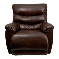 Flash Furniture - Flash Furniture Recliners Leather Recliners X-GG-1215-0309-MA - This Bonded Leather Chaise Recliner has Contemporary styling which will compliment any room in your home while providing all of the comfort you expect. [AM-9030-5121-GG]