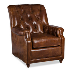 Randall Allan - Parson Chair - Don't overanalyze it. This chair is the stuff your dreams are made of. Sink into the dark, tufted leather and feel the stress melt away. It's sure to look great in your space, won't charge by the hour and offers some retail therapy to boot.