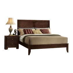 "Acme - 5-Piece Madison Collection Espresso Finish Wood Queen Platform Bed Set - 5-Piece Madison collection espresso finish wood queen platform bed set with panel headboard and tapered legs. This set includes the queen bed set, one nightstand, dresser, mirror and chest. Queen platform bed set with panel headboard and tapered legs. Nightstand measures 22"" x 16"" x 23"" H. Dresser measures 57"" x 16"" x 38"" H. Mirror measures 46"" x 35"" H. Chest measures 30"" x 16"" x 47"" H. Some assembly may be required. TV console also available separately at additional cost and measures 30"" x 16"" x 35"" H. Cal King and Eastern king available at additional cost."