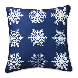 lava - Snowflakes in A Row Pillow - Lava pillows are formed when eruptions of hot rock flow into distinctive creations and are quickly frozen by cool seawater. Lava is a trademark of American Mills, Inc. All lava products are made in America. Add elegant style to your home decor with lava decorative throw pillows.Features: -Durable 100 percent polyester cover and fill. -Spot clean only. -Made in the USA.