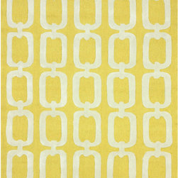 Nuloom - nuLOOM Handmade Indoor/ Outdoor Chain Links Yellow Rug (5' x 8') - Designed for both indoors and outdoors,this beautiful links pattern is perfect for the kitchen or any area where easy cleaning is important. This modern links rug can be washed with a garden hose.