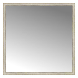 """Posters 2 Prints, LLC - 57"""" x 57"""" Libretto Antique Silver Custom Framed Mirror - 57"""" x 57"""" Custom Framed Mirror made by Posters 2 Prints. Standard glass with unrivaled selection of crafted mirror frames.  Protected with category II safety backing to keep glass fragments together should the mirror be accidentally broken.  Safe arrival guaranteed.  Made in the United States of America"""