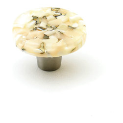 "Windborne Studios - Pebbles Glass Knobs and Pulls, Light Oatmeal, 1.5"" Circle - The ""Pebbles Collection"" is inspired by Northern Michigan Shorelines."
