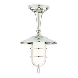 """Hudson Valley Lighting - Hudson Valley Lighting 2911 Single Light Ceiling Fixture Rockford Colle - *Rockford Collection 1 Light Ceiling Fixture9"""" D x 16 1/4"""" H1-100w Medium Base (Not Included)UL Wet Listed (Polished Nickel Not Recommended for Outdoor Use)"""