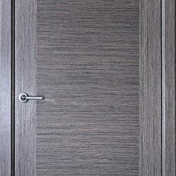 """Modern Interior Doors - """"Milano"""" - grey oak modern wood interior door. The price includes door slab, frame and moldings."""
