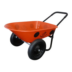 Marathon Industries - Wheelbarrow - LadyBug, Dual Wheel - Marathon Industries LadyBug Barrow Residential Wheelbarrow
