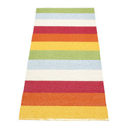 Pappelina - Pappelina Molly Plastic Runner, Multi - This  rug from Pappelina, Sweden, uses PVC-plastic and polyester-warp to give it ultimate durability and clean-ability. Great for decks, bathrooms, kitchens and kid's rooms