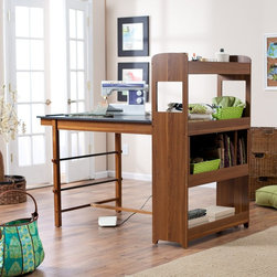 Belham Living - Beldin Craft Table - American Oak - 98026AMNOAK-01-KD-U - Shop for Sewing Tables and Cabinets from Hayneedle.com! The Beldin Craft Table in American Oak is one of those must-haves for any kind of project-oriented space - be it art sewing office and so much more. Constructed of MDF (medium density fiberboard wood) this table will never warp and will endure years of multi-functional uses. A melamine top ensures easy maintenance and a smooth work surface. Rollers hold paper or fabric in place so you can roll out just what you need. A big benefit includes all the storage - perfect for supplies! The included metal ruler may be used on its own or attached to the table. Paper not included. This makes a thoughtful gift - especially for you. Give yourself the gift of organization. About Belham LivingBelham Living builds catalog-quality furniture in traditional styles at a price that actually makes sense. By listening to our customers and working closely with great manufacturers we build beautiful pieces worthy of your home. Rich wood finishes attention to detail and stylish lines that tie everything together are some of the hallmarks of a Belham Living piece. From the living room or bedroom through the kitchen and out onto the deck there's something from an incredible Belham collection perfect for your style.