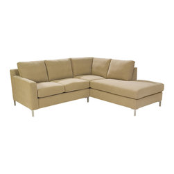 Lazar Industries - Soho Sectional:  Loveseat Chaise and Adjacent Twin Sleeper - Soho Sectional:  Loveseat Chaise and Adjacent Twin Sleeper:  Lazar's most popular and customizable stlye, the Soho offers modern luxury in a compact package.